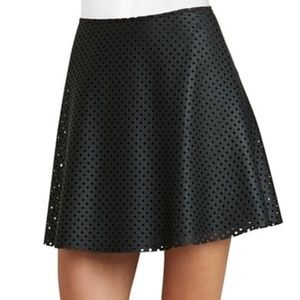 BCBGeneration Faux Leather Skater Skirt